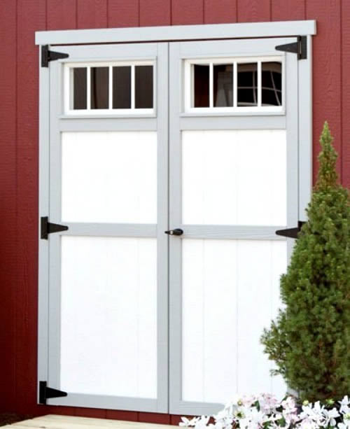 EZ-Fit Cornerstone 8x12 Wood Storage Shed Kit (ez_cornerstone812) Optional Transom Windows