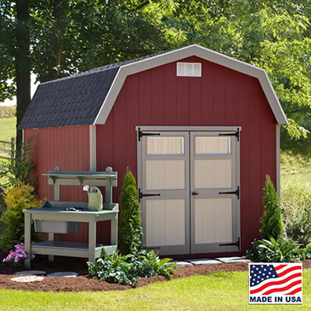 EZ-Fit Cornerstone 12x20 Wood Storage Shed Kit (ez_cornerstone1220) It comes with double doors to store everything you want.