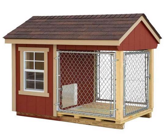 EZ-Fit 6x10 Wood Dog Kennel (ez_kennel610) Protect your dog from wild animals and pests by buying this dog kennel from EZ-Fit.