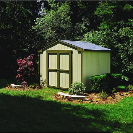 Handy Home Cumberland 10x8 Economical Wood Storage Shed with Floor (18282-2) This kit will definitely beautify the look of your garden.