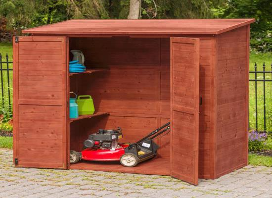 Leisure Season Extra Large Storage Shed Wood Kit (ELSS2003) - Provides room to your lawn and garden tools.