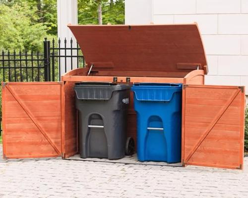 Leisure Season Horizontal Refuse Storage Shed (RSS2001) - Keep your garbage cans/bins organized.