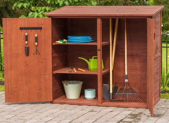 Leisure Season Medium Storage Shed (MSS6602) Ideal for storing your lawn and garden tools.