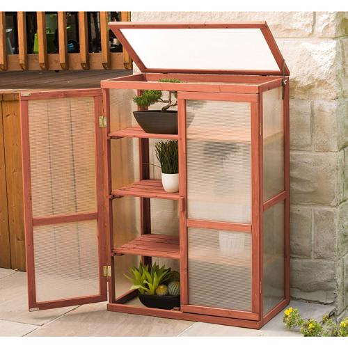 Leisure Season Mini Greenhouse (MG6116) This greenhouse offers a great place where you can enjoy tending your plants.