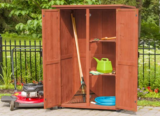 Leisure Season Vertical Storage Shed (VSS3005) Ideal storage for your lawn and garden tools.