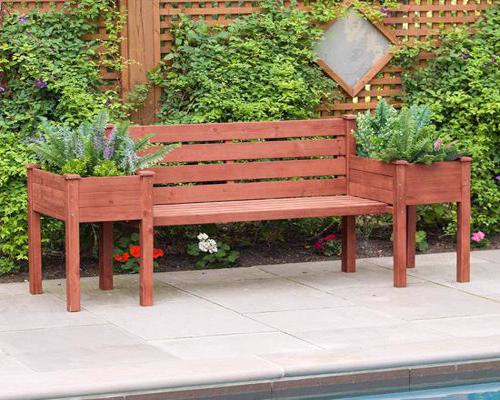 Leisure Season Wood Planter Bench (PBB7821) Enjoy seating at this bench while looking at the view of your beautiful plants.