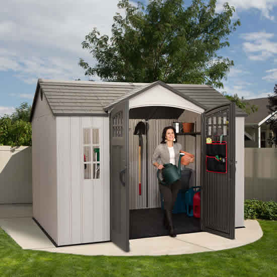 Lifetime 10x8 Side Entry Shed w/ Vertical Siding (60118) Gives you the storage space that you need for your garden tools.