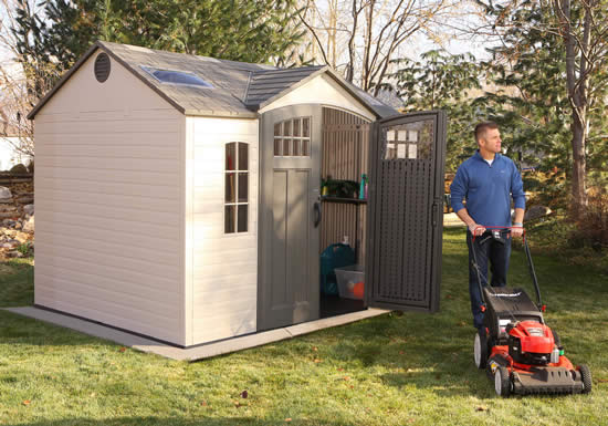 Lifetime 10x8 Garden Storage Shed w/ Floor (60178) Ideal storage for your lawn and garden tools.