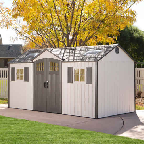 Lifetime 15x8 New Style Storage Shed Kit w/ Floor (60138) This shed will greatly fit your backyard.