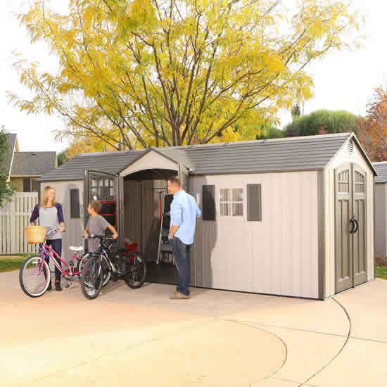 Lifetime 20x8 New Style Storage Shed Kit w/ Floor (60127) This shed is designed to help you organize and store everything you need.