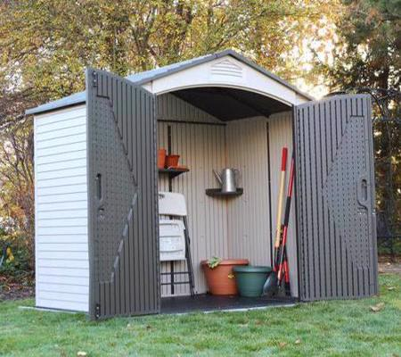Lifetime 7x 4.5 Outdoor Storage Shed Kit w/ Floor (60057) Ideal storage for your lawn and garden equipments.