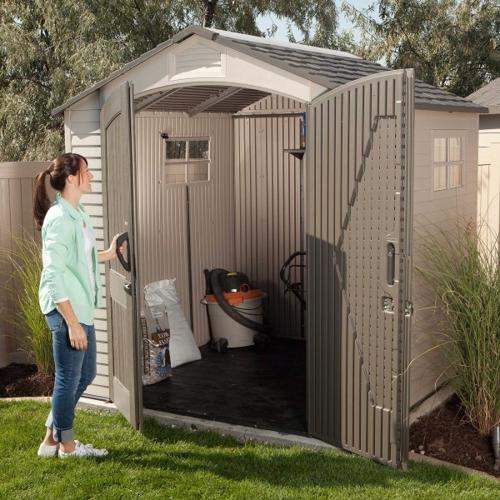Lifetime 7x7 ft Storage Shed Kit - 2 Windows (60042) - This shed is an ideal additional to any backyard setting.