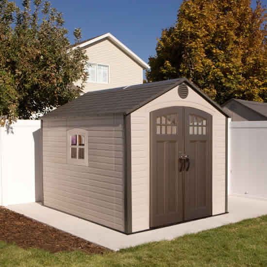 Lifetime 8x10 Shed Kit w/ Corner Trims (60117) You can utilize this shed as a storage room, workshop studio and many more
