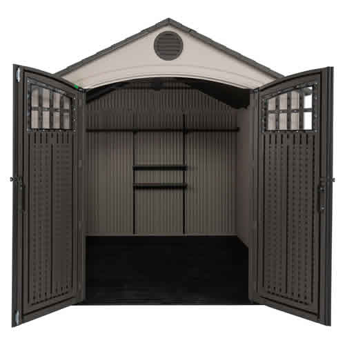 Lifetime 8x10 Outdoor Plastic Shed Kit w/ Horizontal Siding (60238) This shed will give you more storage for your stuff.