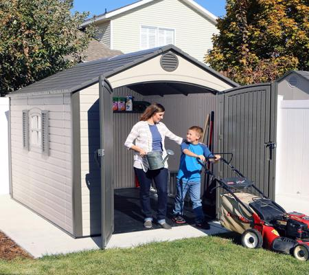 Lifetime 8x10 Outdoor Storage Shed Kit w/ Ridge Skylight (60056) Excellent storage for your lawn mower and other garden tools.