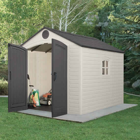 Lifetime 8x10 Outdoor Storage Shed Kit w/ Floor (6405) This shed is an excellent addition to your garden.