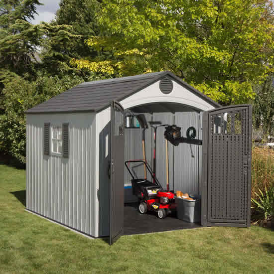Lifetime 8x10 Plastic Shed Kit w/ Vertical Siding (60202) This shed can be an exemplar stockroom for your garden tools.