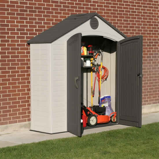 Lifetime 8x2.5 Outdoor Storage Shed Kit w/ Floor (6413) Ideal storage for your lawn and garden tools.