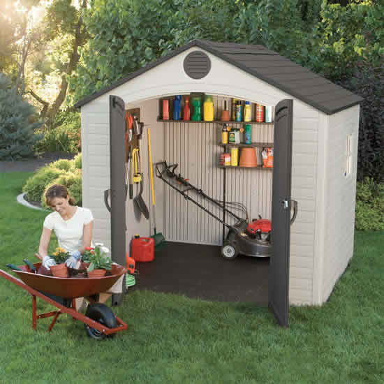Lifetime 8x5 Storage Shed Kit w/ Floor & Window (6406) Ideal storage for your garden tools.