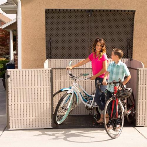 Lifetime Horizontal Outdoor Storage Shed Box (60170) Ideal storage for your bicycles.