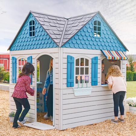 Lifetime Playhouse Kit (290980) This playhouse helps children with their social skills by making new friends.