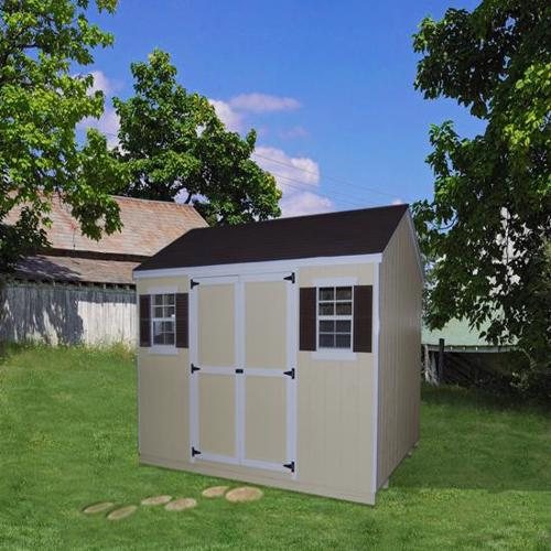 Little Cottage Company Value Workshop 12x12 Storage Shed Kit (12x12 VWS-WPC) This shed will look great especially on your garden area.