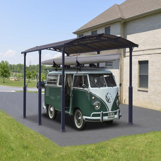 Palram Arcadia Alpine 12x16 Steel Carport Kit Hg9125