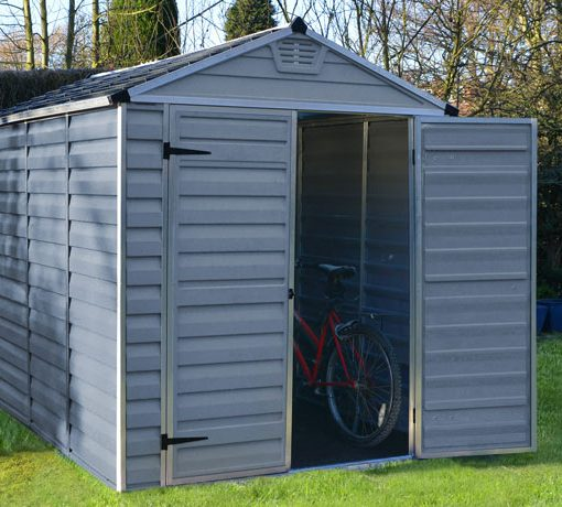 Palram 6x10 Skylight Storage Shed Kit - Gray (HG9610GY) You can store and secure your bike here too.