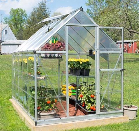 Palram 6x10 Hybrid Greenhouse Kit - Silver (HG5510) This greenhouse will protect your plants from the inclement weather.