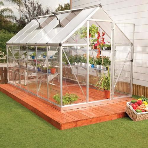 Palram 6x14 Hybrid Greenhouse Kit - Silver (HG5514) The is greenhouse will help you isolate your plants from the weather and pests.