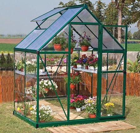 Palram 6x4 Hybrid Greenhouse Kit - Green (HG5504G) This greenhouse will help you protect your plants from the weather and pests.