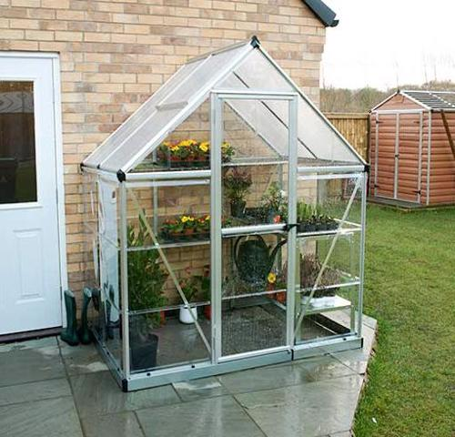 Palram 6x4 Hybrid Greenhouse Kit - Silver (HG5504) This greenhouse will give you the ability to grow your plants and vegetables and protect them from the weather.