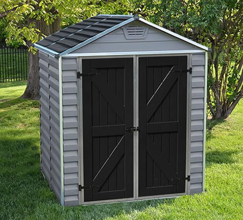 Palram 6x5 Skylight Storage Shed Kit - Tan (HG9605T) This shed is an ideal addition to add enhancement to any backyard setting.