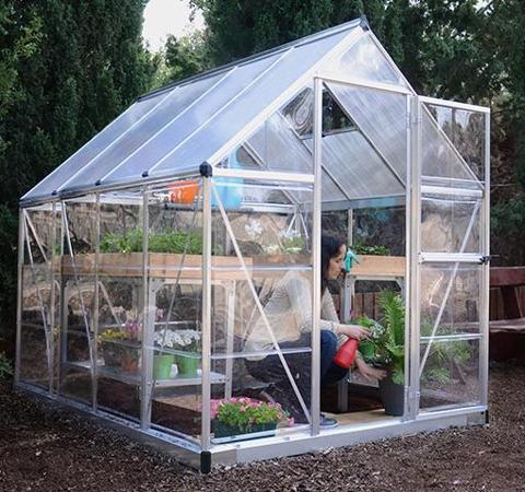 Palram Hybrid 6x6 Greenhouse Kit - Silver (HG5506) This greenhouse will not just protect your plants but will save your time and energy cost.