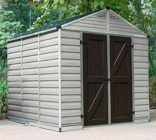 Palram 8x8 Skylight Storage Shed Kit - Tan (HG9808T) This shed is created to fit into any backyard places.