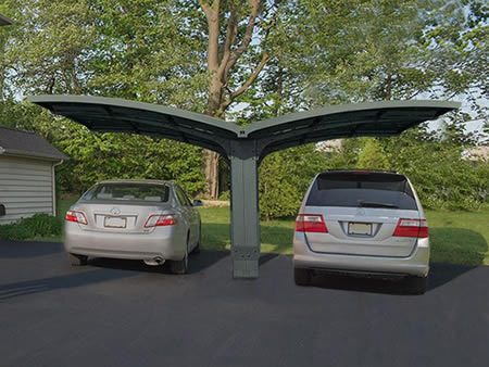 Palram Arizona Wave Double Carport Wing-Style (HG9101) Help you to protect your vehicles from the sun rays.