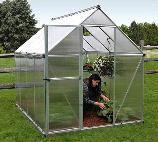 Palram 6x8 Mythos Hobby Greenhouse Kit - Silver (HG5008) Gives shade to your flowers and vegetables.