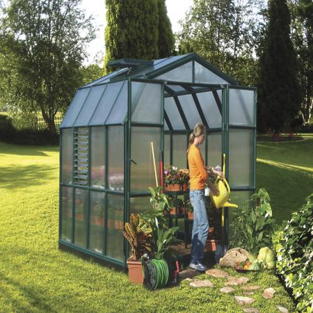 Rion 8x8 Prestige 2 Greenhouse Kit - Dark Green (HG7308) You can grow your plants, flowers and herbs as much as you want.