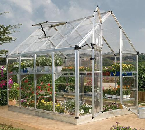 Palram 6x12 Snap & Grow Hobby Greenhouse Kit - Silver (HG6012) Gives your plants and flowers the protection that they need.