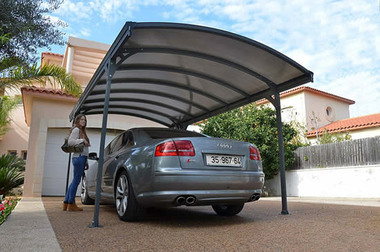 Palram 16x9.5 Vitoria 5000 Metal Carport Kit (HG9130) This carport provides a complete UV blockage from the rays of sun.