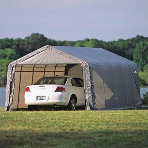 ShelterLogic 13x20x10 Peak Style Instant Garage Kit - Grey (73432) This is the best place for you to store your vehicle.