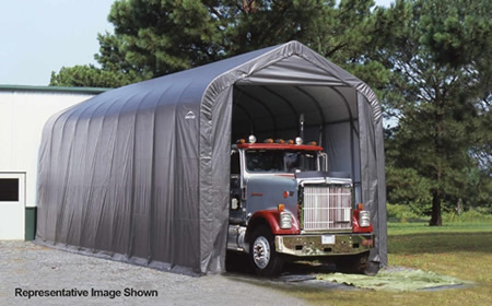 ShelterLogic 16x44x16 Peak Style - Gray (95943) Provides an inclusive protection to your big trucks.