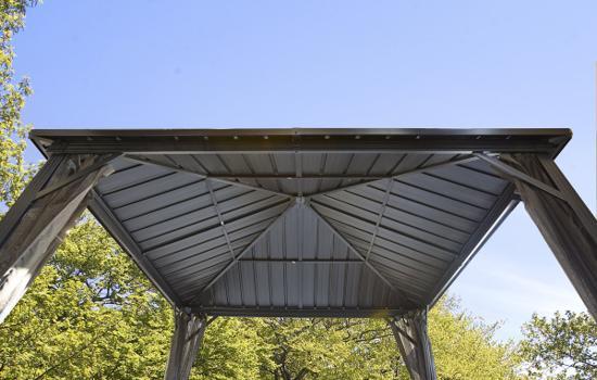 Sojag 10x10 Dakota Aluminum Gazebo Kit - Dark Brown (500-9165012) The inside look of the Dakota gazebo from its roof.