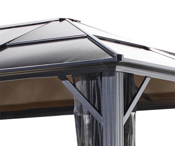 Sojag 10x14 Meridien Aluminum Gazebo Kit - Gray (500-8162943) The roof view of our Meridien gazebo!