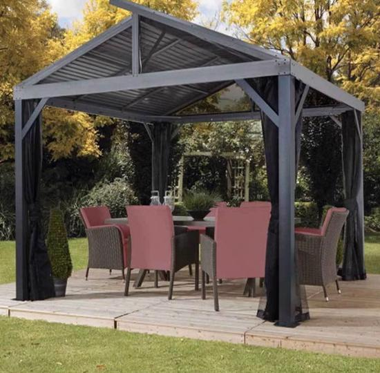 Sojag 12x12 South Beach II Aluminum Gazebo Kit - Light Gray (500-8162783) This gazebo kit is a great addition to your backyard space.