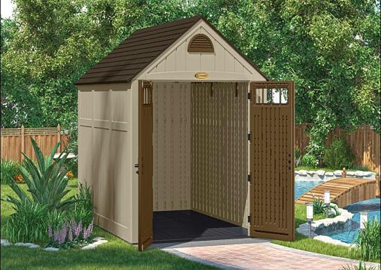 Suncast 7x10 Brookland Storage Shed w/ Floor (BMS8020) Its floor is reinforced well to give storage to your tractors or mowers.