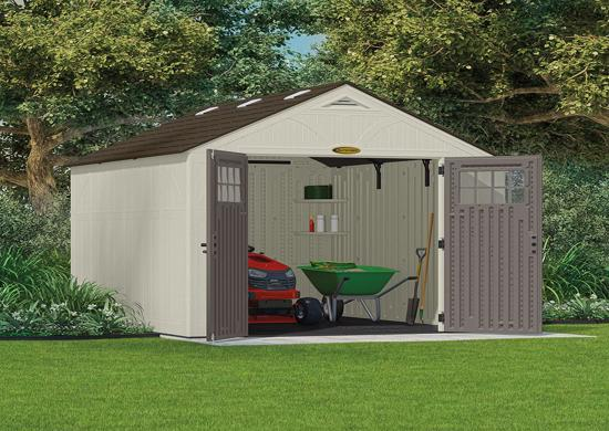 Suncast 8x10 Tremont Storage Shed w/ Floor (BMS8100) Store all of your garden tools inside this shed.