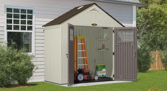 Suncast 8x4 Tremont Storage Shed w/ Floor (BMS8400D) This shed can free up some space on your garden.
