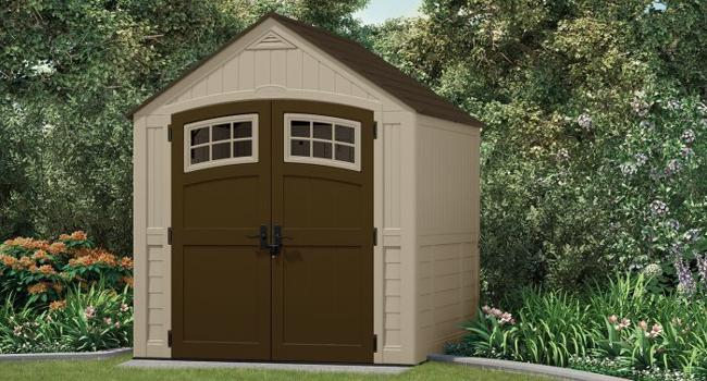 Suncast 7x7 Sutton Storage Shed w/ Floor Kit (BMS7791) This shed is will definitely add value to your home.