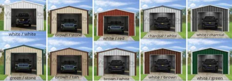 Frontier Garage Color Options.